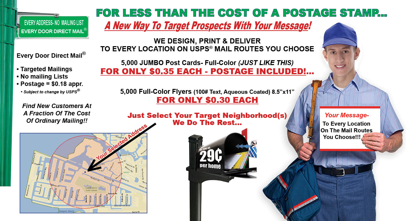 Every Door Direct Mail 174 Usps 174 Eddm 174 Independent Printing