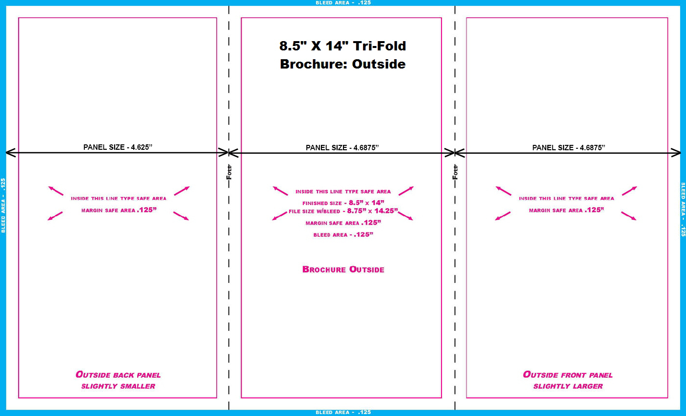 8 5 x 14 brochure template - 11 in and 14 in templates