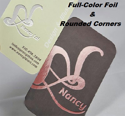 Full Color Foil & Rounded Corner Business Cards