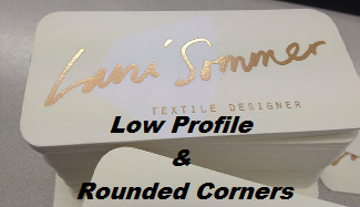 Low Profile & Rounded Corner Business Cards